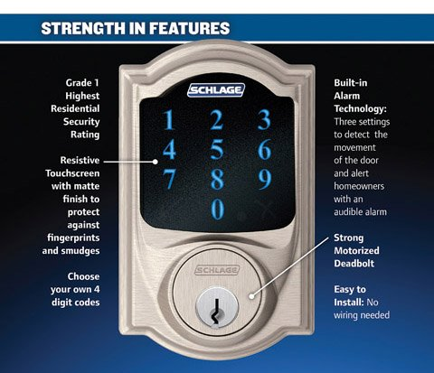 Schlage Connect Fe469nx Touchscreen Entry Set With Camelot