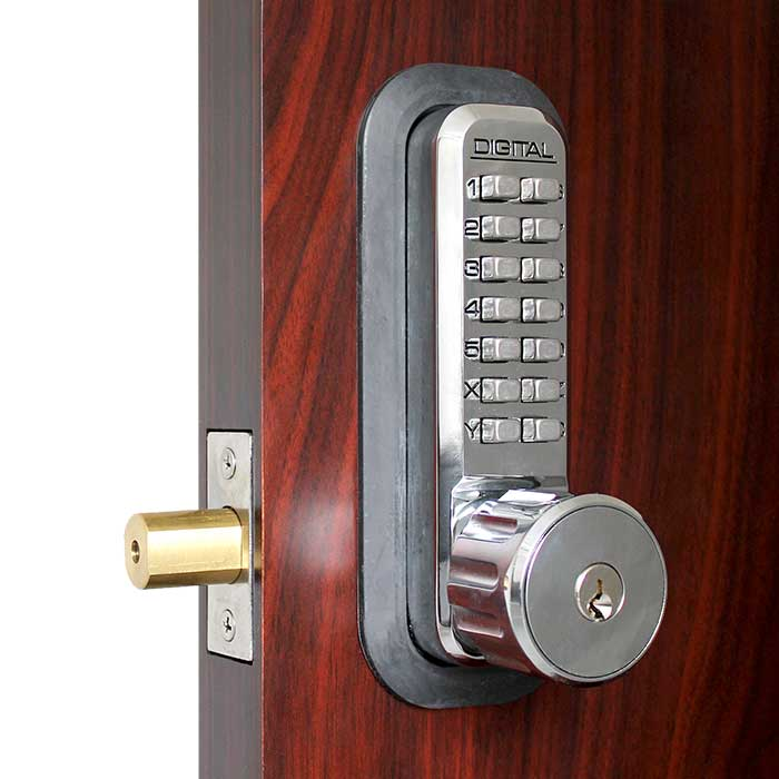 Lockey 2210 in Bright Chrome with Key Override