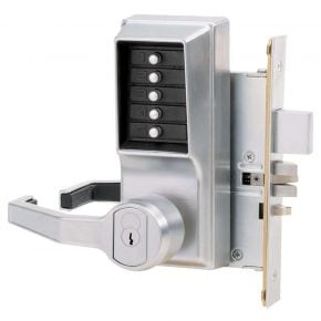 Simplex 8148 Pushbutton Mortise w/ Deadbolt - IC Key Core Sold Separate