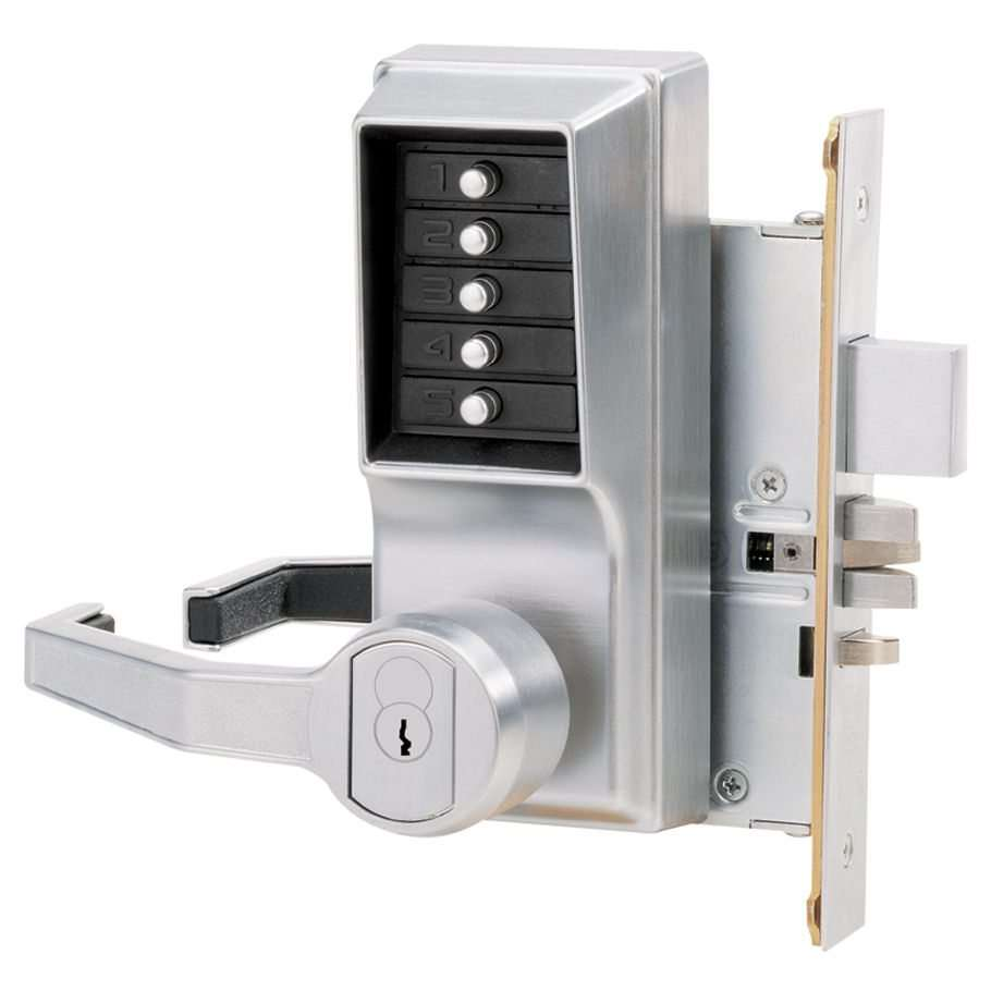 Simplex 8148 Keyless Mortise Pushbutton Lock W Deadbolt