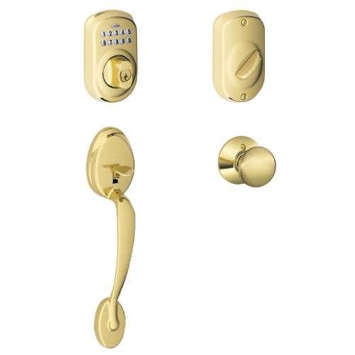 Schlage Fe365 Plymouth Keypad Front Door Security Knob Set