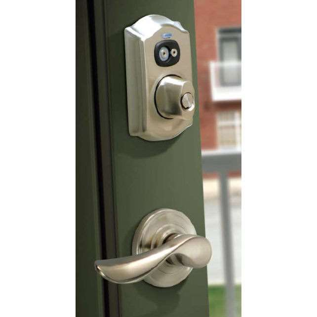 Schlage Be367f20 Camelot Programmable Electronic Deadbolt