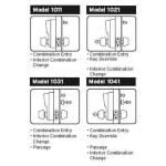 Simplex 1000 Knob Lock Features