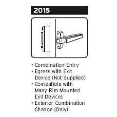Simplex 2015 Push Button Exit Device Lock Gokeyless