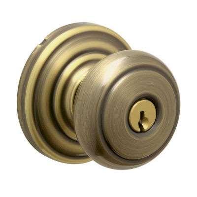 Schlage F51 Andover Keyed Entrance Door Knob Lock