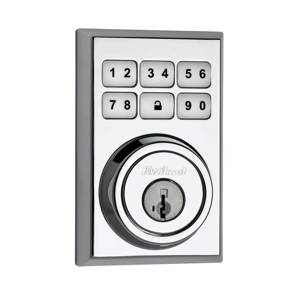 Contemporary Smartcode 909 Electronic Deadbolt Polished Chrome