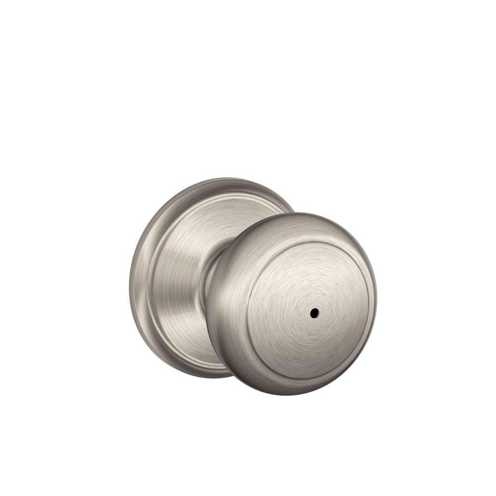 Schlage f40 andover privacy bed bath door lock gokeyless - Bathroom door knobs with privacy lock ...