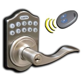 E-Digital E-985R Electronic Door Lock, Remote Fob Capable
