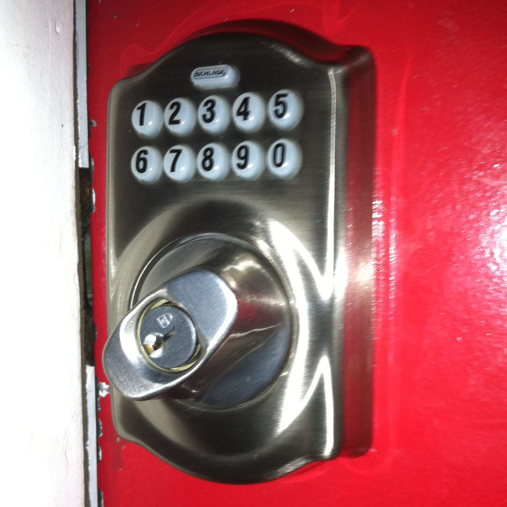 Schlage Be365 Camelot Keypad Deadbolt Satin Nickel