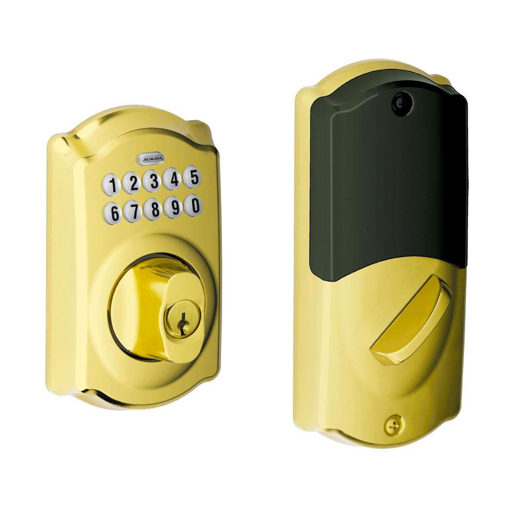 Schlage Be369nx Connected Keypad Z Wave Deadbolt Bright