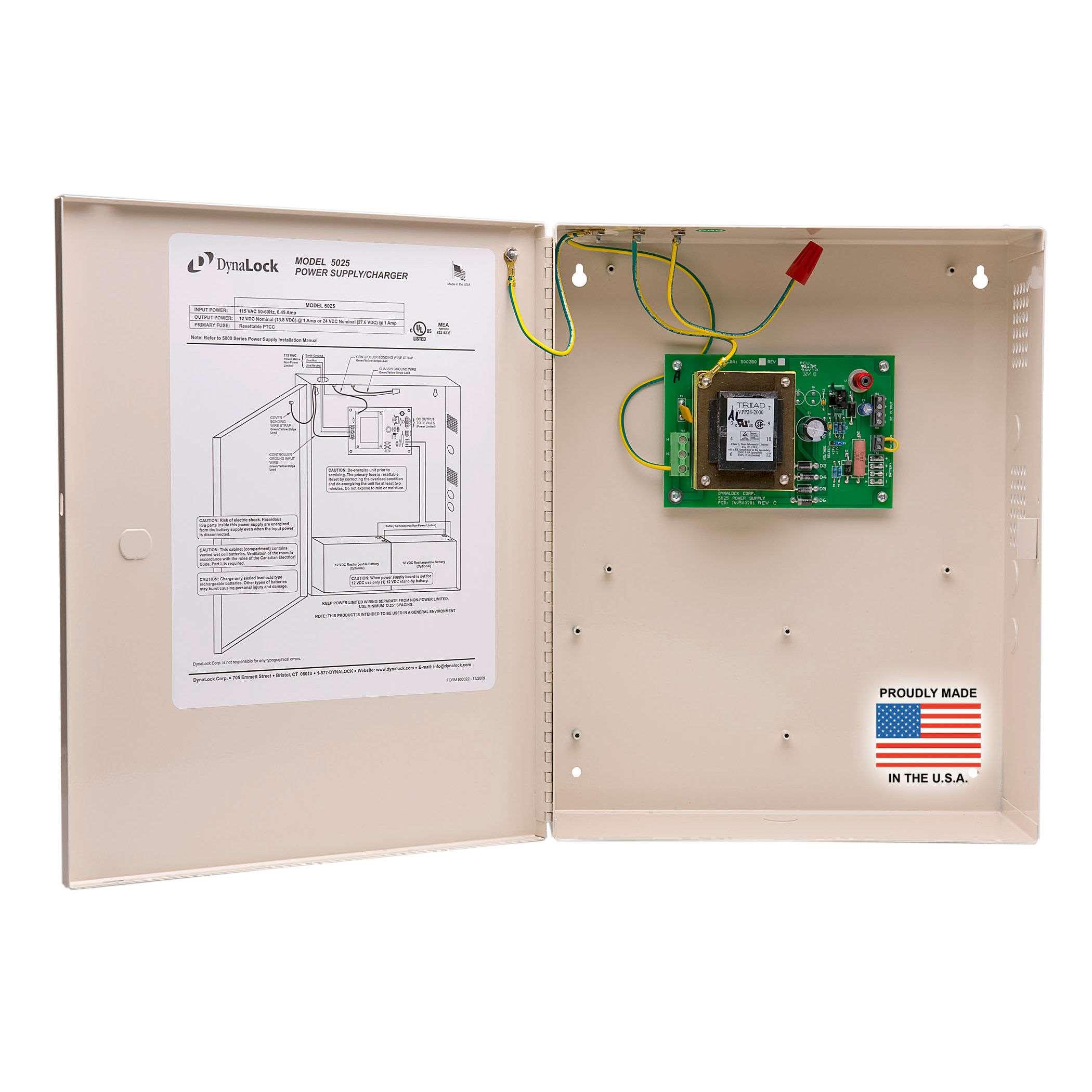 Dynalock 5025 Light Duty 1 Amp Power Supply Gokeyless 15 Volt Regulated
