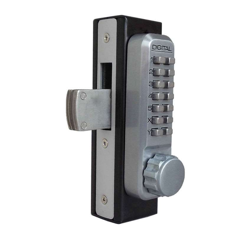 Lockey 2900 Push Button Narrow Stile Throwbolt Lock