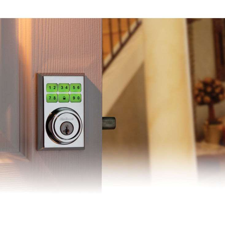 Contemporary Smartcode 909 Electronic Deadbolt Polished