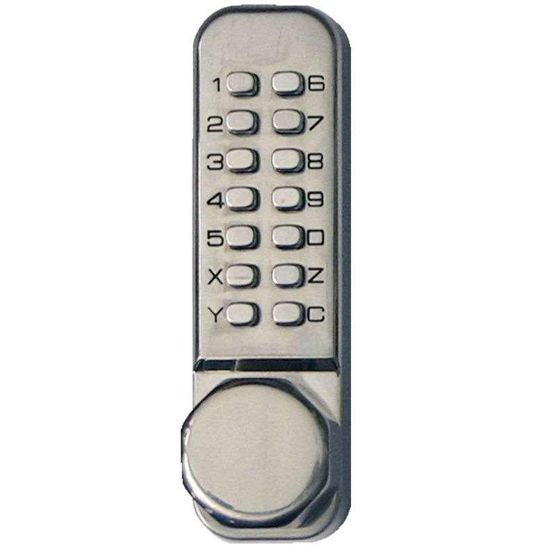 Simplex Ld451 Pushbutton Door Knob Lock Satin Stainless