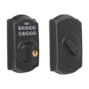 Schlage Be365 Keypad Deadbolt Lock Oil Rubbed Bronze