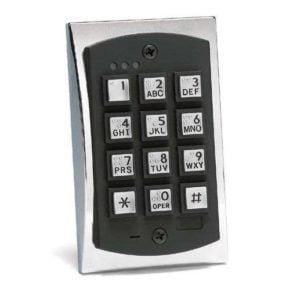 2000 Series eM Style Flush-mount Durable Metal Access Control Keypad