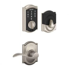 Schlage Touch™ Deadbolt with Decorative Lever