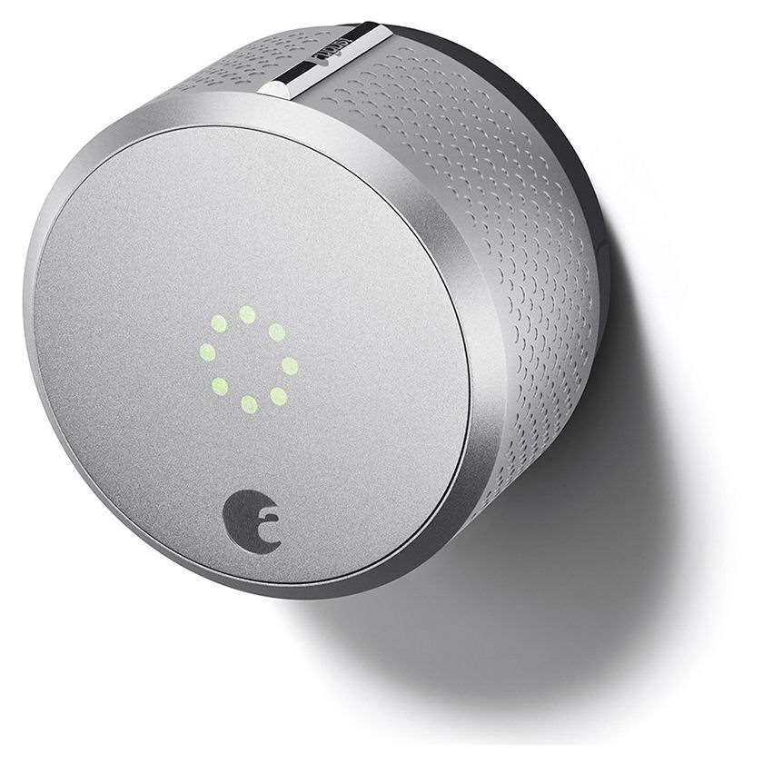 August Smart Lock Works With Apple Homekit Silver Only