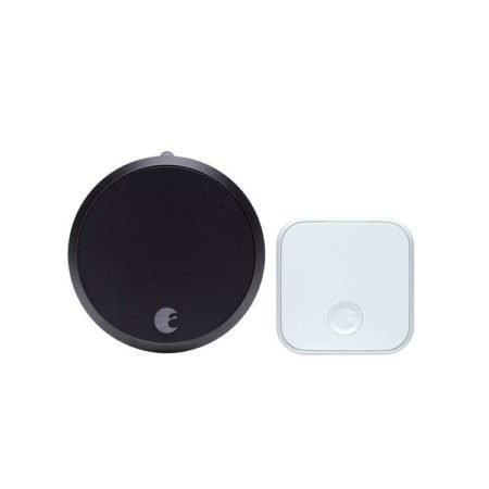 August Smart Lock Pro + Connect in Dark Grey