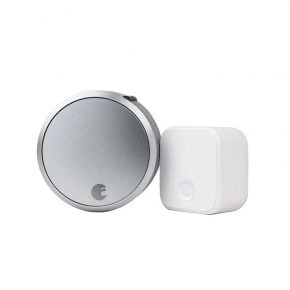 August Smart Lock Pro + Connect in Silver