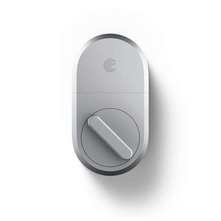 August Smart Lock in Silver