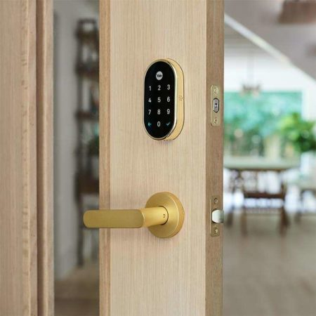 Nest x Yale Lock in Polished Brass