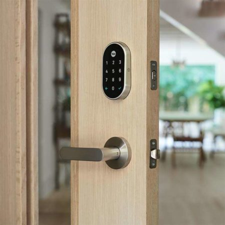 Nest x Yale Lock in Satin Nickel