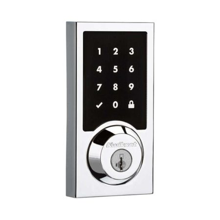 Kwikset SmartCode 916 Contemporary Exterior in Polished Chrome