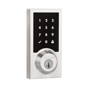 Kwikset SmartCode 916 Contemporary Exterior in Satin Nickel