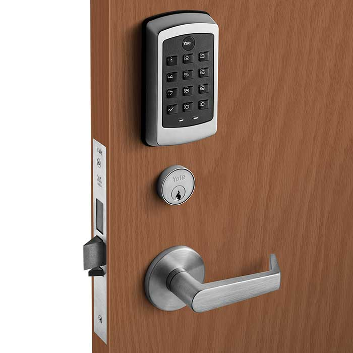 Yale Sectional Mortise with Augusta Lever