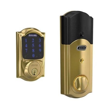 Schlage Connect BE469 in Bright Brass