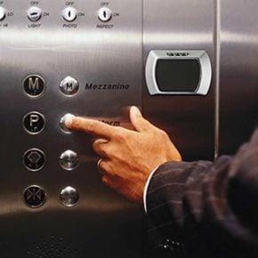 Saflok Quantum RFID RCU QTM II on elevator interior