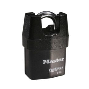 Master Lock 6321 Shrouded Laminated Steel Rekeyable Pin Tumbler Padlock