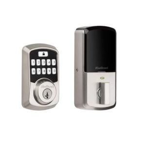 Kwikset Aura Bluetooth Smart Lock in Satin Nickel