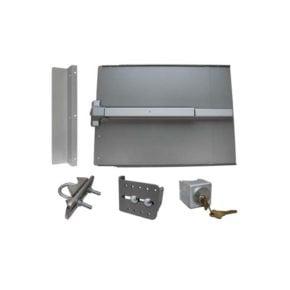 Lockey ED51 Edge Panic Shield Safety Kit with LockeyUSA PB1100 in Silver