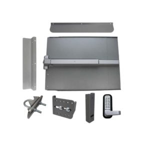 Lockey ED61 Edge Panic Shield Security Kit with LockeyUSA PB1100 in Silver