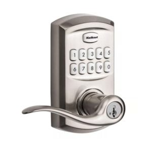 Kwikset SmartCode 917TNL TRL 15 in Satin Nickel Angled