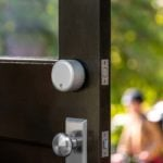August Wi-Fi Smart Lock in Silver on Interior