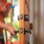 August Wi-Fi Smart Lock in Matte Black on Interior