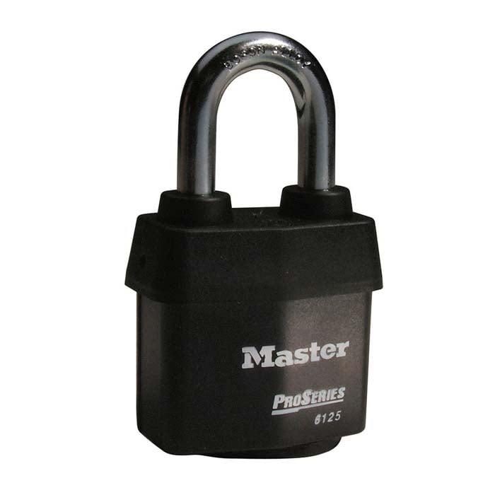Master Lock No. 6125 ProSeries® Weather Tough® Laminated Steel Rekeyable Pin Tumbler Padlock
