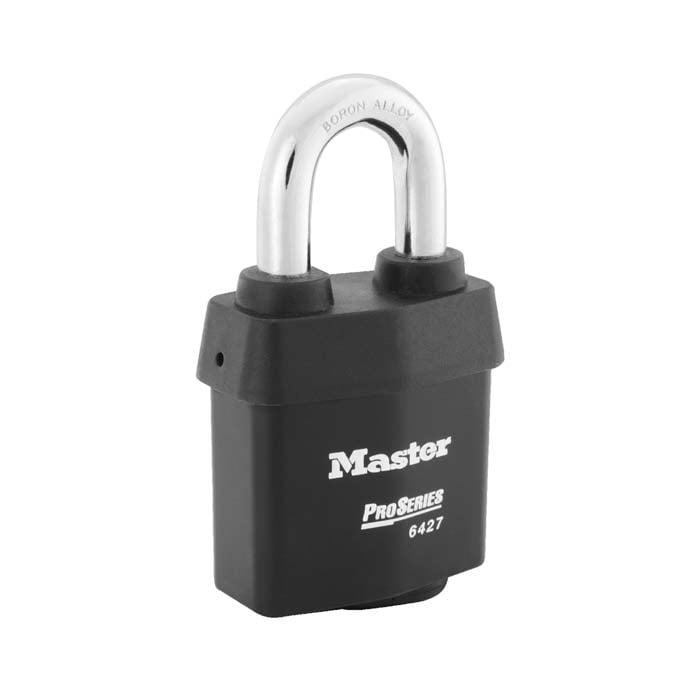 Master Lock No. 6427 ProSeries® Weather Tough® Laminated Steel Rekeyable Interchangeable Core Padlock