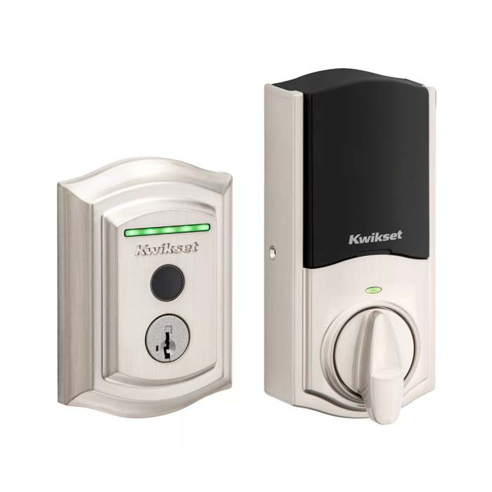 Kwikset Halo Touch in Satin Nickel  Traditional Style
