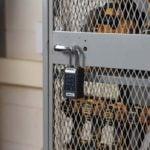 Master Lock 6400LJENT on Locker Exterior